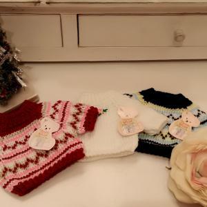 色とりどりの可愛いセーター♪