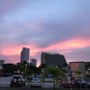 グアムの天気 10月12日 夕方 タモンからジョー速