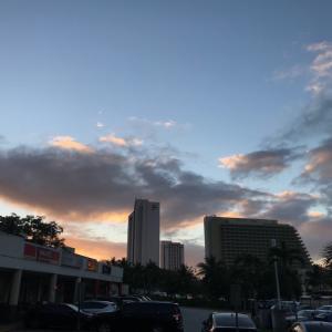 グアムの天気 12月6日 夕方 タモンのいつもの場所wwからジョー速