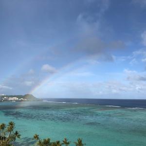 グアムの天気 12月14日 虹 ヘンリーのタモン日記