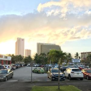 グアムの天気 1月27日 夕方 またまたゼウスオフィス前からジョー速
