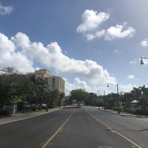 グアムの天気 4月2日 ホテルロード sashi from Guam