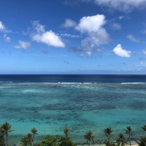グアムの天気 4月9日 朝のタモンの様子 sashi from Guam