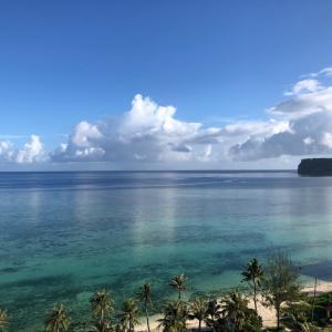 グアムの天気 6月4日 タモンの朝の様子 sashi from Guam