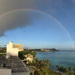 グアムの天気 6月22日 虹と日食 sashi from Guam