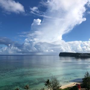 グアムの天気 7月3日 まっ曇り sashi from Guam