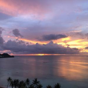 グアムの天気 7月21日 サンセット sashi from Guam