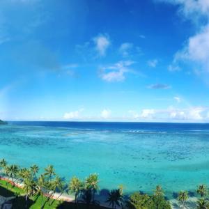 グアムの天気 完全なるダブルレインボー