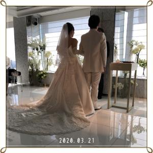 結婚式 !