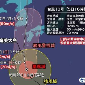 台風 影響