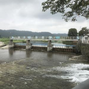 羽村堰が…【水量増えたらこうなるんだね】