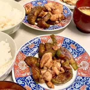 鶏モモと茄子で╰(*´︶`*)╯♡