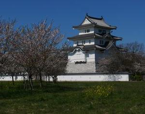 関宿城(千葉県立関宿城博物館)と桜 2020年4月6日
