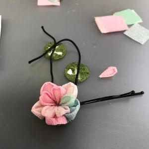 ■教室レポ■中級、上級クラスは正絹ちりめんの藤と山桜だったのですが・・・・・