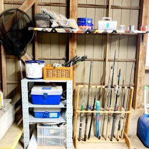 ガレージ改造計画③〜釣り道具とカー用品エリアー〜