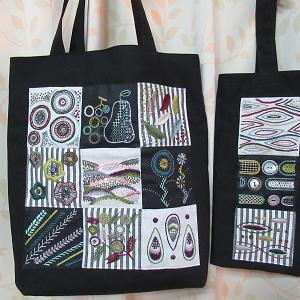 モダン刺繍のバッグ完成