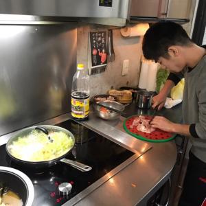 ▶︎長男特製白菜たっぷり卵とじ丼!