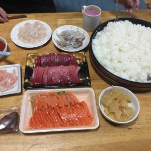 1号の誕生パーティーは手巻き寿司