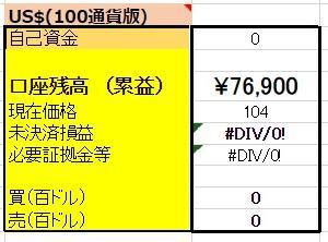 3/10 【USDX円両建編】 <清算>決済買3100ドル