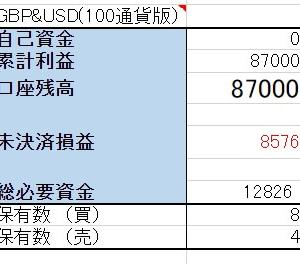 9/14 【GBP/USD両建】<決済>買 1800ポンド