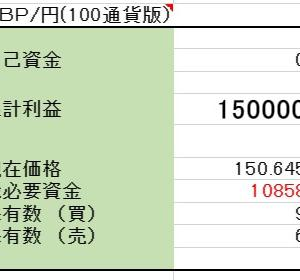 3/19 【GBP/JPY両建】<決済>売 1000ポンド