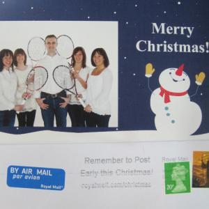 今年もイギリスからクリスマスカードが届きました