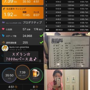 きのうのスズラン☆7000mペース走♪奈良の安倍文殊院♪