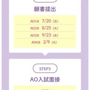 AO1次入試☆7/1(日)からエントリ受付!