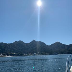 宮島の海に来ました