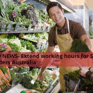 【新型コロナ関連情報】スーパーマーケットで働く留学生に対して勤務時間制限がフレキシブルに