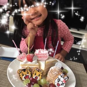 しまじろうアイシングクッキー☆4歳のバースデーケーキ