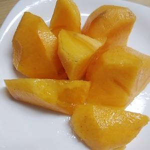 渋抜き柿が美味い ものすごく甘くて 栄養たっぷり 今が一番おいしい