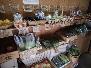 土曜日は定休日前の営業 朝採りの梨も野菜も鮮度抜群仕入れ
