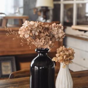 ☆【5分DIY】セリア(100均)の紫陽花アーテシャルフラワーがドライフラワーに変身!簡単すぎてびっくりなリメイク法☆