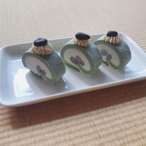 【作成記録】Rawロールケーキ〜ver抹茶