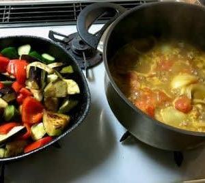 夏野菜とチキンのカレー