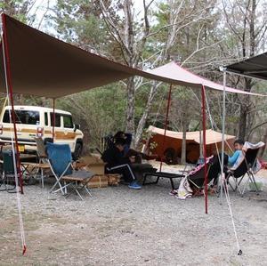 毎年恒例の父子の会、牡蠣キャンプ^ ^
