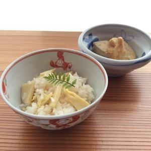 赤絵唐子飯碗・染付桜文小鉢/筍ご飯