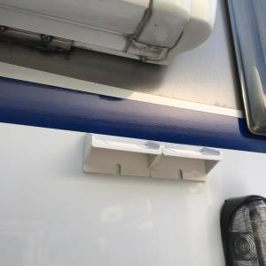 キャンピングカーの雨だれ汚れ防止に! 住宅用の伝い水防止水切り「ツタワンD(デー)」を使ってみるょ!