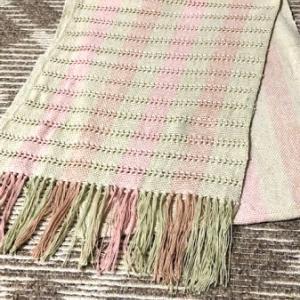 もじり織りのストール完成。