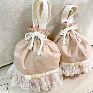 ピンクの給食袋