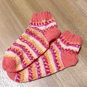 手編みのくつ下