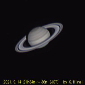 2021年9月14日と15日の土星