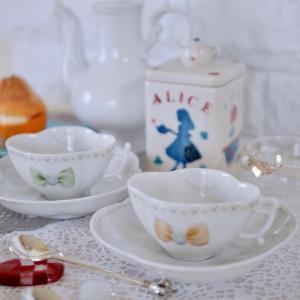 パール×カメオリボンのカップ&ソーサー♡
