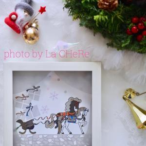 クリスマスに人気の壁掛けタイルアート☆