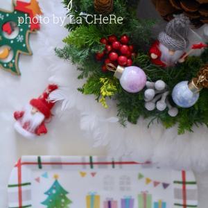 課題作品でクリスマスプレート完成♡