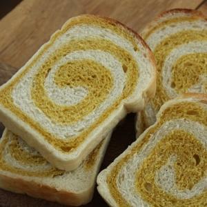 ぐるぐるパンと欲張ったマロンパイ。