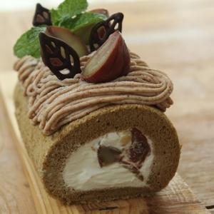 モンブランロールケーキ。