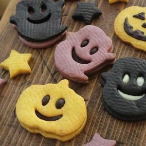 ハロウィンチョコサンドクッキー。