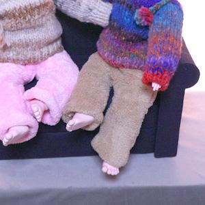 お人形用ソファーが幼子ちゃんズにシンデレラフィットな件